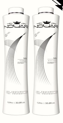 Safira - #1 Formaldehyde Free Brazilian Keratin Hair Straightening Treatment - Set of 2 - Shampoo (1L) Volume Reducer (1L) 15+ Applications by Keratin World