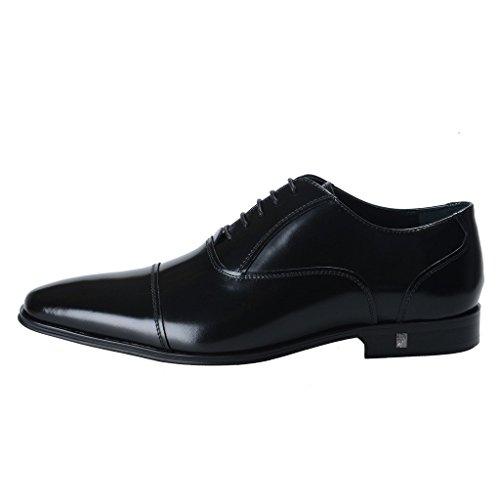 Versace-Collection-Mens-Black-Polished-Leather-Oxfords-Shoes