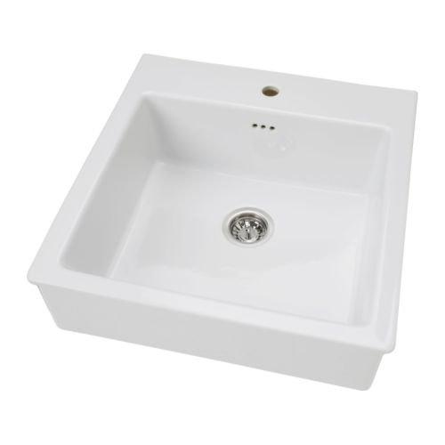 IKEA DOMSJÖ - Single évier, blanc - 62x66 cm: Amazon.fr: Cuisine ...