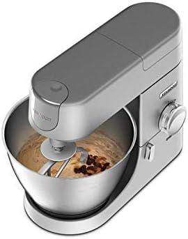 Kenwood Chef KVC3110S - Robot de cocina multifunción, bol de metal de 4.6 L, varillas para mezclar, amasar y batir, indicador de velocidades, 1000 W, color plata: Amazon.es: Hogar