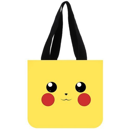 Twin Sides Custom for You Pocket Monster Series Anime Pokemon Pikachu Canvas Tote Bag Reusable Shopping Bag