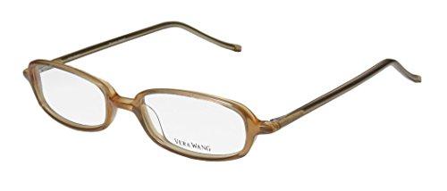 Vera Wang V14 Womens/Ladies Vision Care Prestigious Designer Designer Full-rim Eyeglasses/Eyewear (47-17-133, - Nerd Nude Glasses