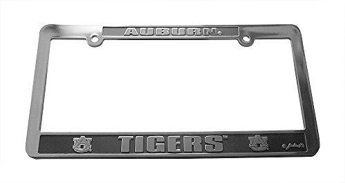 Jenkins Enterprises Auburn Tigers Silver & Black Auto License Frame ()