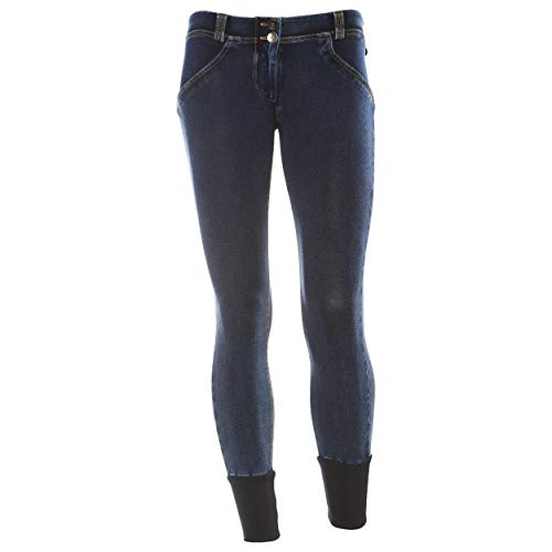 Deportivo para cuciture Pantalón Scuro Freddy Gialle Mujer Jeans qp4nH