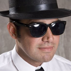 [Blues Brothers Sunglasses] (Blues Brothers Costume Hat)
