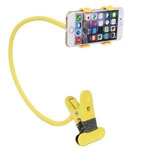 SPYKART Flexible Lazy Hang Neck Phone Support, 360 Degree Rotation Flexible Multi Function Mobile Phone Holder Support All Mobiles  Yellow