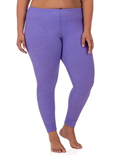 - Fruit of the Loom Women's Plus Size Waffle Thermal Bottom, Purple Heather, 3X