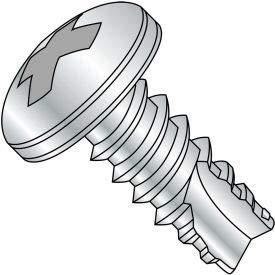 #2 x 3/8 Phillips Pan Thread Cutting Screw Type 25 Fully Threaded Zinc Bake - Pkg of 10000 (02065PP)