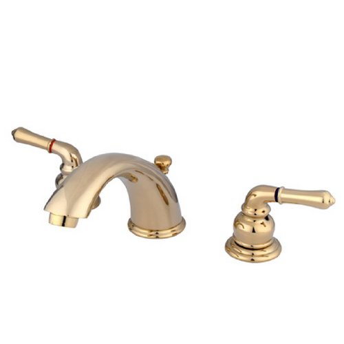 Kingston Brass KB962 Magellan II Widespread Lavatory Faucet 8-Inch to 16-Inch Centers, Polished (Lavatory 8in Centers)