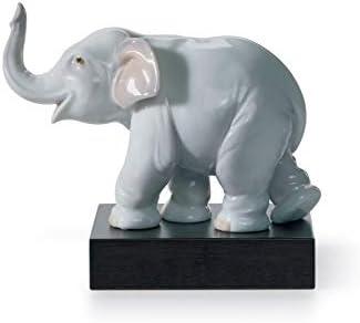 LLADR Lucky Elephant Figurine. Porcelain Elephant Figure.