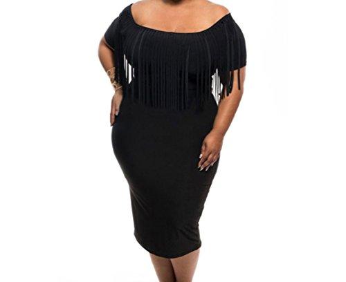 PEGGYNCO-Womens-Short-Sleeve-Fringe-Top-Plus-Size-Dress
