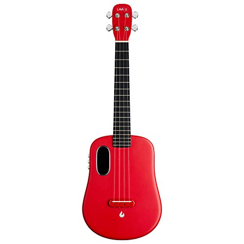 LAVA U, Carbon Fiber Ukulele, 26-inch,Play with effects without plugging in, Acoustic Electric Ukulele by LAVA MUSIC (FreeBoost, Sparkle Red, 26-inch)
