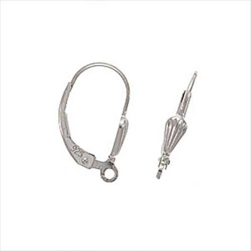 Beadaholique Sterling Earrings Lever Backs with Shell Design, ()