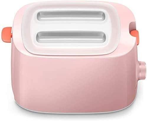 GSAGJsf Brotbackmaschine, Toaster, Toaster Fahrer voll automatischer Start Toaster Einbau-Toaster mit Dust Cover Rosa