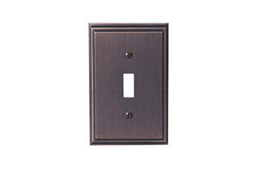 Amerock BP36514ORB Mulholland 1 Toggle Wall Plate - Oil-Rubbed Bronze ()