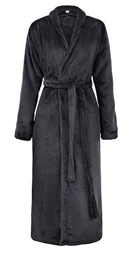 Verabella Kimono Robe Women Luxuriously Cozy Plush Bathrobe Robe,Black