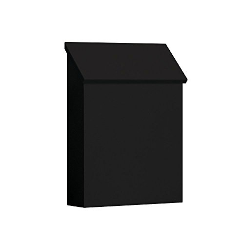 Salsbury Industries 4620BLK Traditional Mailbox, Standard, Vertical Style, Black (Renewed)