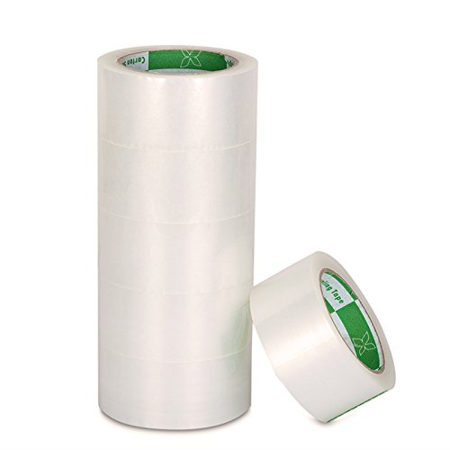 Metronic 2.0 Mil Thick 2 Inch - Clear Packaging Sealing Tape, Carton Sealing Tape (6 Rolls Clear, 110 YDS)