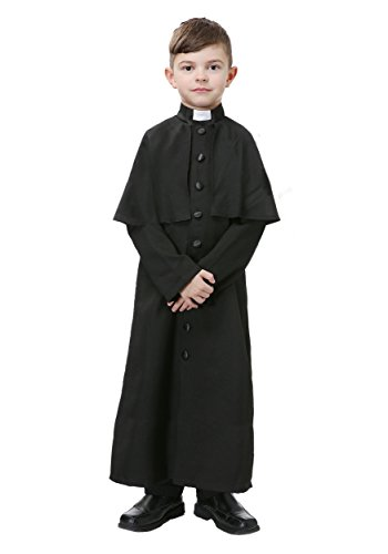 Priest Costume Boy (Deluxe Priest Boys Costume Small)