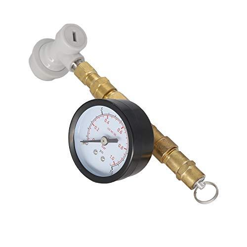 Homebrew Adjustable Pressure Valve w/Gauge With Thread Gas Ball Lock, Kegging equipment for beer brew (Beer Kegging Equipment)