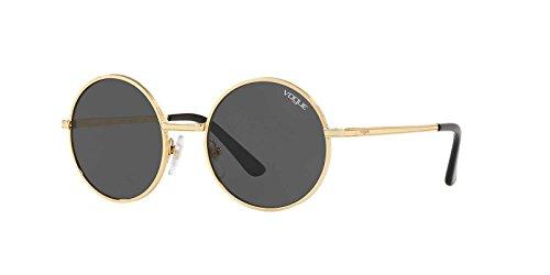 Vogue Women's Metal Woman Round Sunglasses, Gold, 50 - Glasses Case Vogue