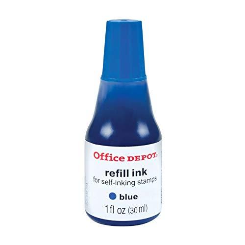 (Office Depot Self-Inking Refill Ink, 1 Oz, Blue, 034209)