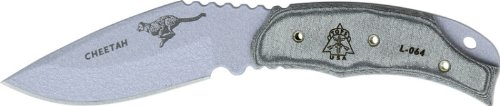 Tops Knives CH262 Cheetah Fixed Blade Knife with Black Linen