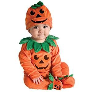Lil' Pumpkin Infant Halloween Costume Includes Jumper Headpiece and Booties 0-6m