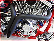 ACCESSORIESHD - 1 3/4 Inch Black LAF Ground Shakers Exhaust for Harley-Davidson Sportsters, Baggers, Softails and Customs
