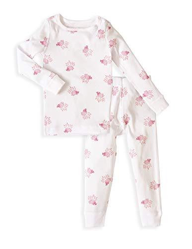 Skylar Luna Babies Girls Long Sleeve Pajama Set - 100% Soft Organic Cotton - Hedgehog ()