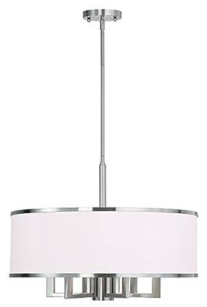 Livex Lighting 62616-91 Park Ridge 6 Light Chandelier, Brushed Nickel