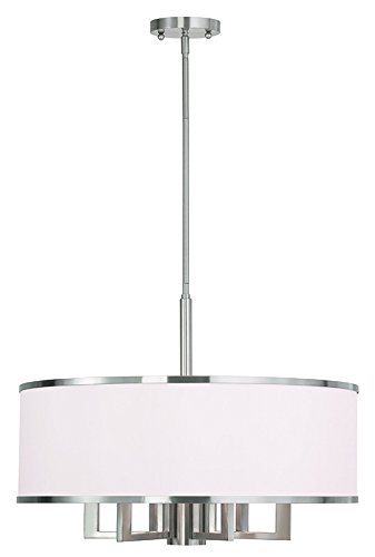 Livex Lighting 62616-91 Park Ridge 6 Light Chandelier, Brushed Nickel