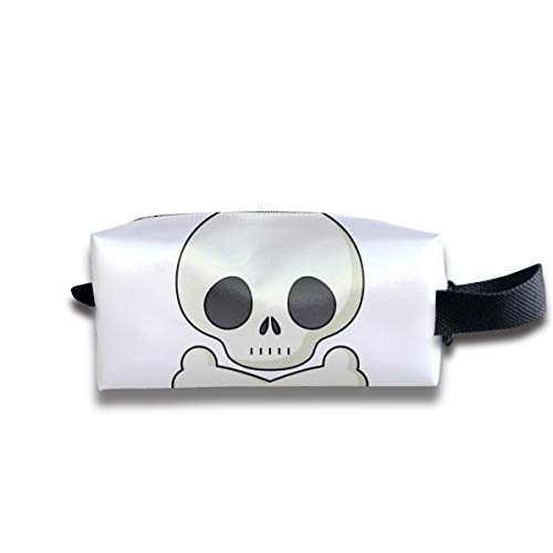 Halloween Skeleton Clipart Cute Multi-Function Key Purse Coin Cash Pencil Travel Makeup Toiletry Bag Box Case]()
