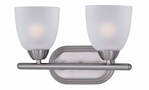 Maxim Lighting 11312 Axis Bath Vanity Light Fixture, Satin Nickel Finish, 13 by 8.5-Inch