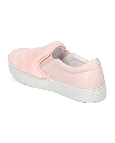 Mocassino Sfoderato Antiscivolo Donna Alrisco Da Donna - Hf75 By Wild Diva Collection Baby Rosa Mix Media