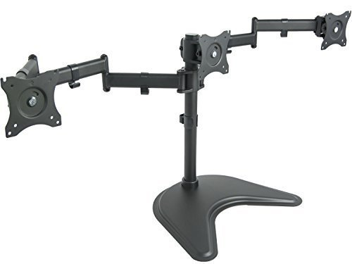 VIVO Triple Monitor Mount Fully Adjustable Desk Free Stand for 3 LCD Screens upto 24