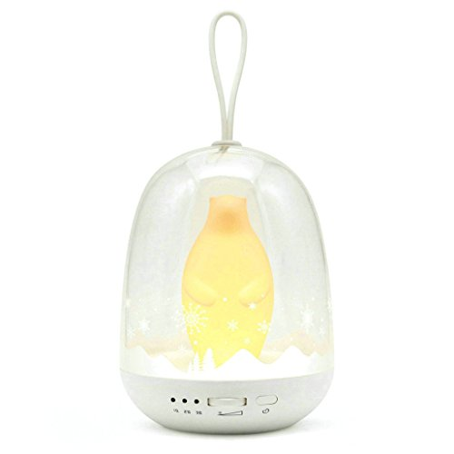 mamre Multicolor Kids Timer Bed Light Portable Color Changing Lantern RGB LED Outdoor Lamp (Polar Bear)
