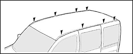 VDP kompatibel mit VW T5 ab 2003 Dachtr/äger XL Pro 200 3 Stangen Lastentr/äger