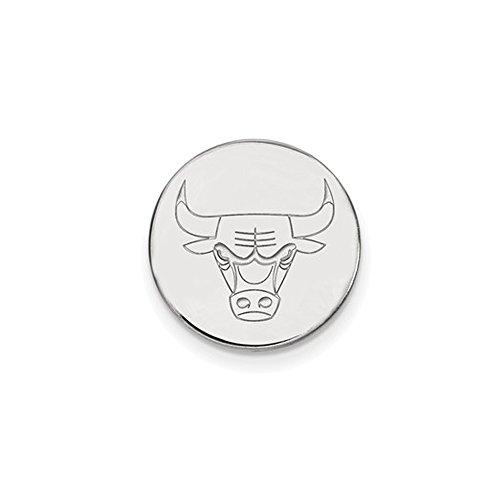 NBA Chicago Bulls Lapel Pin in 14K White Gold by LogoArt