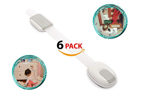 Installing Doors Bi Fold (Clearance!! Baby Safety Lock for Cabinet, Drawer, Door, Oven, Toilet - 6 Packs - Child Proof - Reusable with Extra Strong 3M Adhesive - Adjustable Latch System - White, Grey)