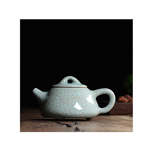 - Crackle Glaze Ge Kiln Longquan Celadon Ceramics Arts Gold Wire Antique Teapot,Blue Golden Line