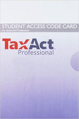 TaxAct 2017 Access Card for Pearson's Federal Taxation 2019