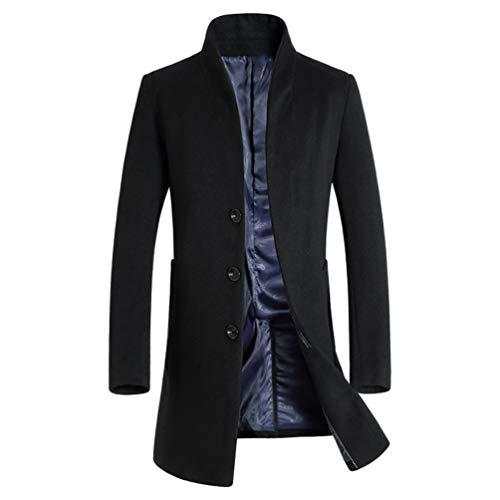 Blouson Manteau Pardessus Slim Outerwear Chaud Boutonnage Gabardine Casual Laine Fit Hiver Yuandiann Automne Homme Business Noir En Trench Coat Long Simple Caban 4aYaFq