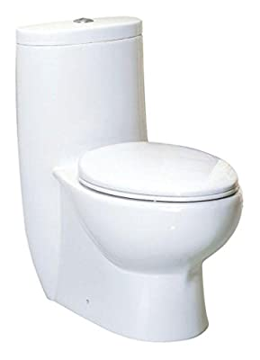 Whitehaus WHMFL3309-EB-WH haus High Efficiency Toilet