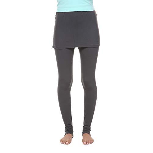 White Mark Women's Full Length Skirted Leggings Yoga Pants - Charcoal - Medium from White Mark