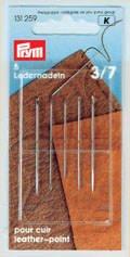 Ledernadeln ST 3-7 silberfarbig