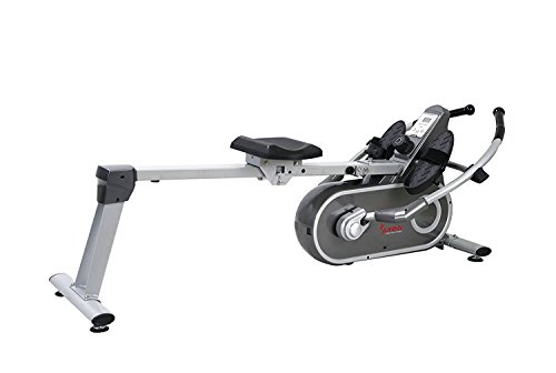 Sunny Health & Fitness SF RW5624 Full Motion Magnetic Rowing Machine Rower w/ LCD Monitor