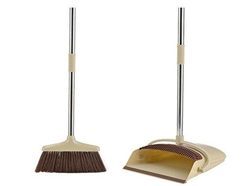Apar 2 PCS/Set Latest Plastic Dustpan Soft Bristle Broom Thicken Household Sweep Floor Multi-Functional Non-Slip Handle Cleaning Tool