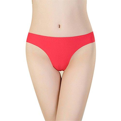 YALL-tanga ropa interior de ala ancha Red
