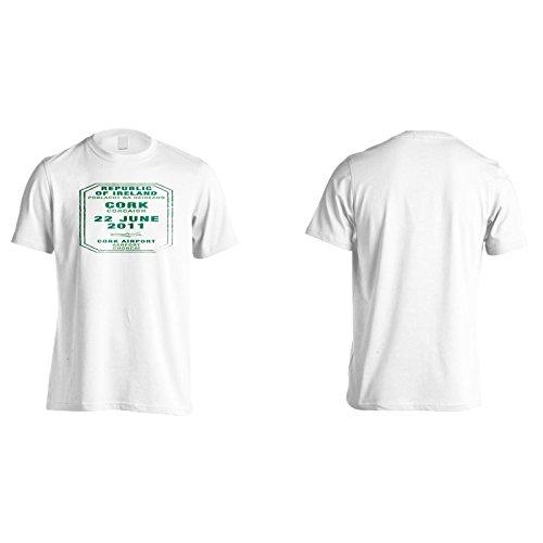 Neue Kork Flughafen Stempel Herren T-Shirt l503m